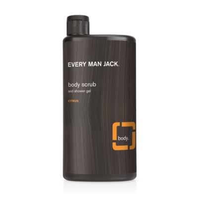 Every Man Jack Body Wash and Shower Gel, Citrus Scrub, 16.9 Ounce