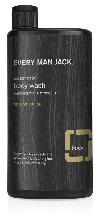 Every Man Jack Body Wash, Volcanic Clay, 16.9 Ounce