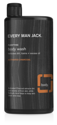 Every Man Jack Body Wash, Activated Charcoal, 16.9 Ounce
