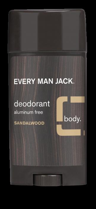 Every Man Jack Dedorant Stick, Sandalwood, 3 Ounce
