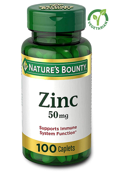 Nature's Bounty Zinc 50 mg, 100 Caplets