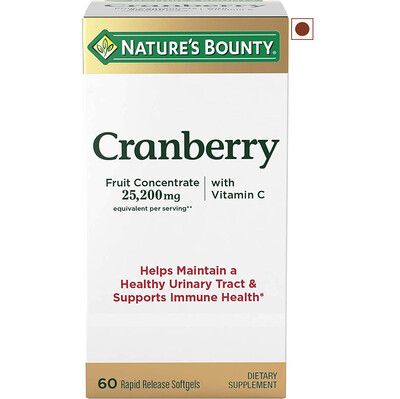 Nature's Bounty Cranberry Dietary Supplement, 60 Softgels