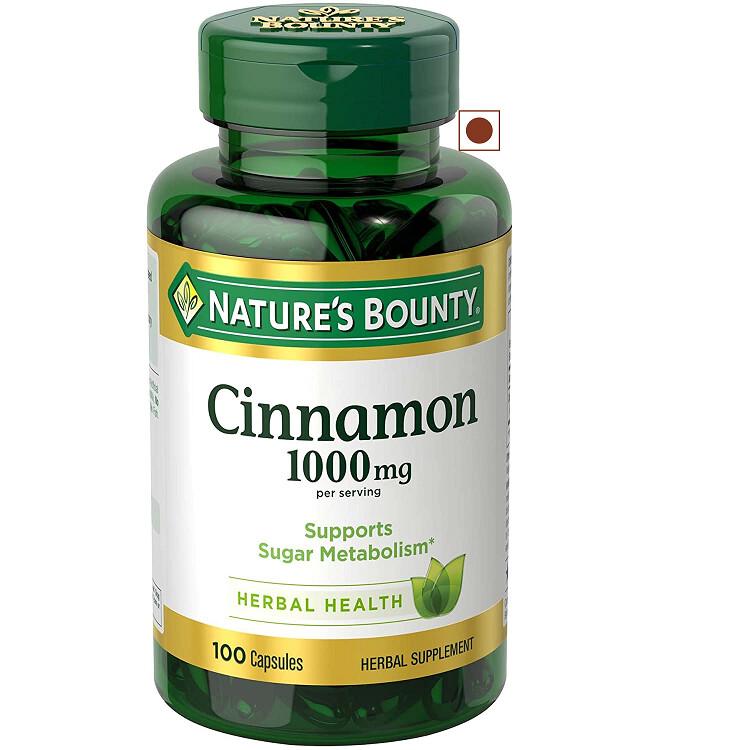 Nature's Bounty Cinnamon 1000 mg, 100 Capsules