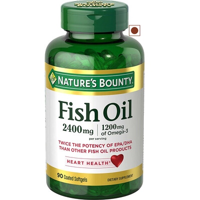 Nature's Bounty Fish Oil 2400 mg, 90 Softgels