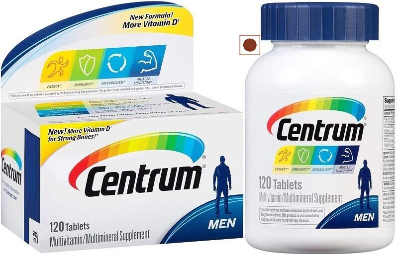Centrum Men Multivitamin, Multimineral with more Vitamin D, 120 Tablets