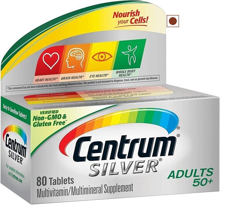 Centrum Silver Adult 50+ Multivitamin, Multimineral, 80 Tablets