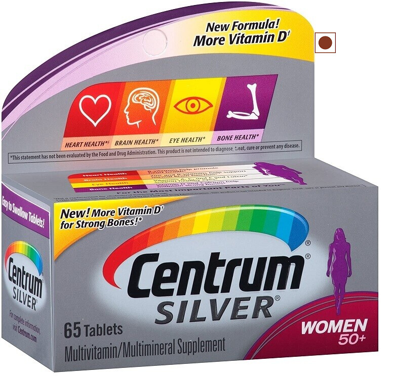 Centrum Silver Women 50+ Multivitamin, Multimineral, 65 Tablets