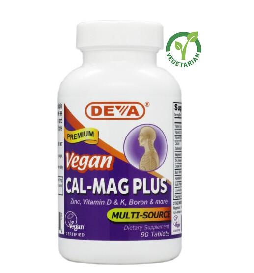 Deva Vegan Calcium Magnesium Plus, 90 Tablets