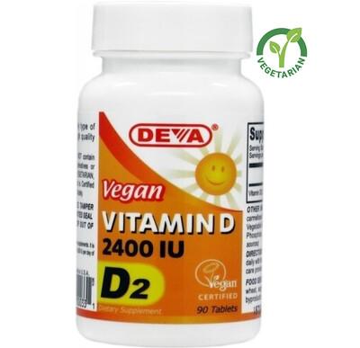 Deva Vegan Vitamin D 2400 IU, 90 Tablets