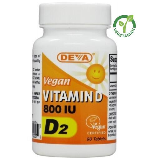 Deva Vegan Vitamin D 800 IU, 90 Tablets