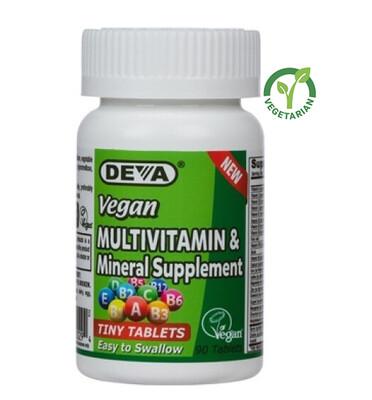 Deva Vegan Multivitamin and Mineral Supplement, 90 Tablets