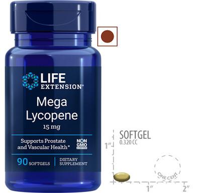 Life Extension Mega Lycopene 15 mg, 90 Softgels