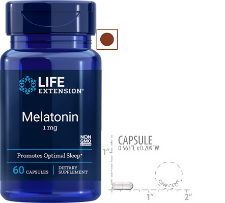 Life Extension Melatonin 1 Mg, 60 Capsules