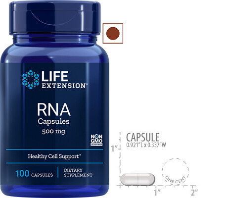 Life Extension RNA 500 Mg, 100 Capsules
