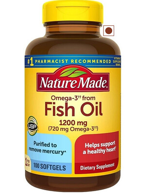 Nature Made Omega3 Fish Oil 1200 mg, 100 Softgels