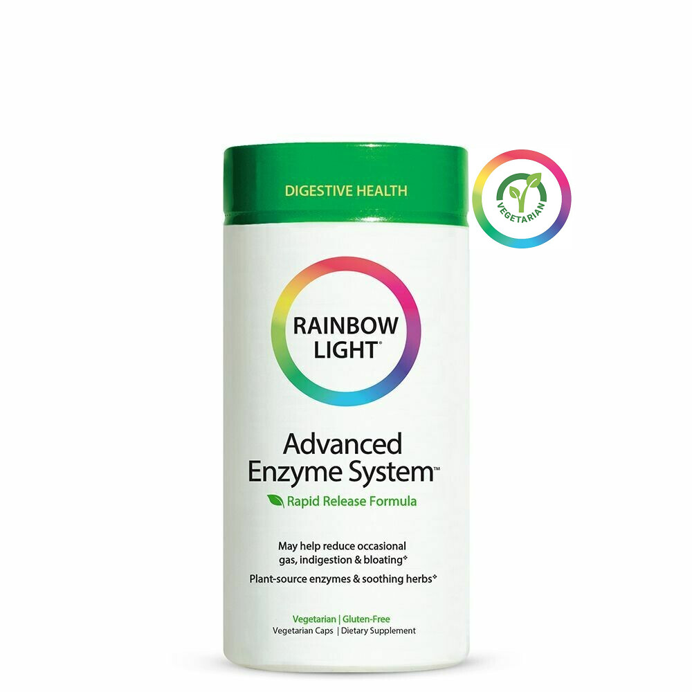 Rainbow Light Advanced Enzyme System, 90 Capsules