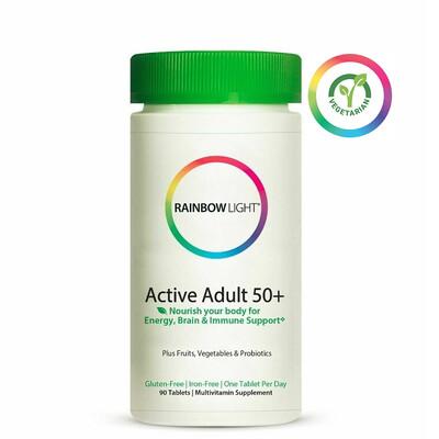 Rainbow Light Active Adult 50 plus Multivitamin, 90 Tablets
