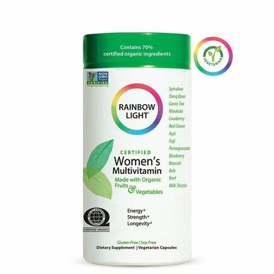 Rainbow Light Certified Organic Womens Multivitamin, 120 Capsules
