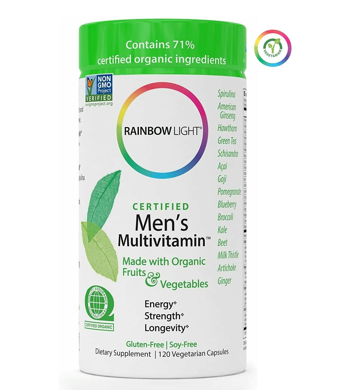 Rainbow Light Certified Mens Multivitamin, 120 Capsules