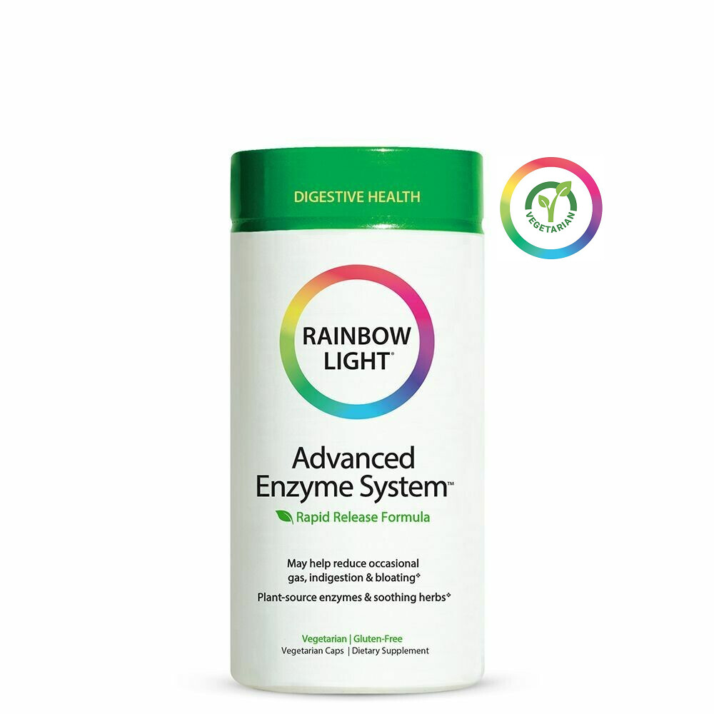 Rainbow Light Advanced Enzyme System, 180 Capsules