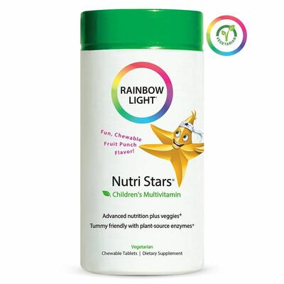 Rainbow Light Nutri Stars Childrens Multivitamin, 60 Tablets