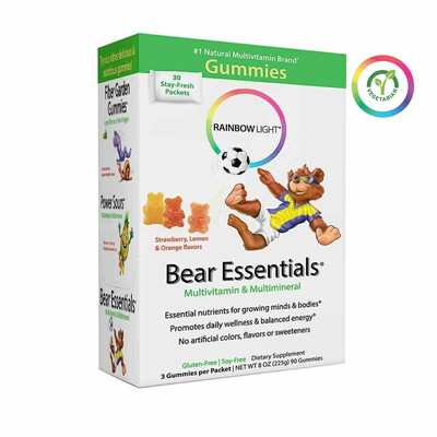 Rainbow Light Bear Essentials Multivitamin and Multimineral for Kids, 30 Packets