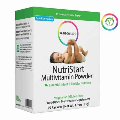 Rainbow Light NutriStart Multivitamin Powder for Children, 25 Easy Mix Packets