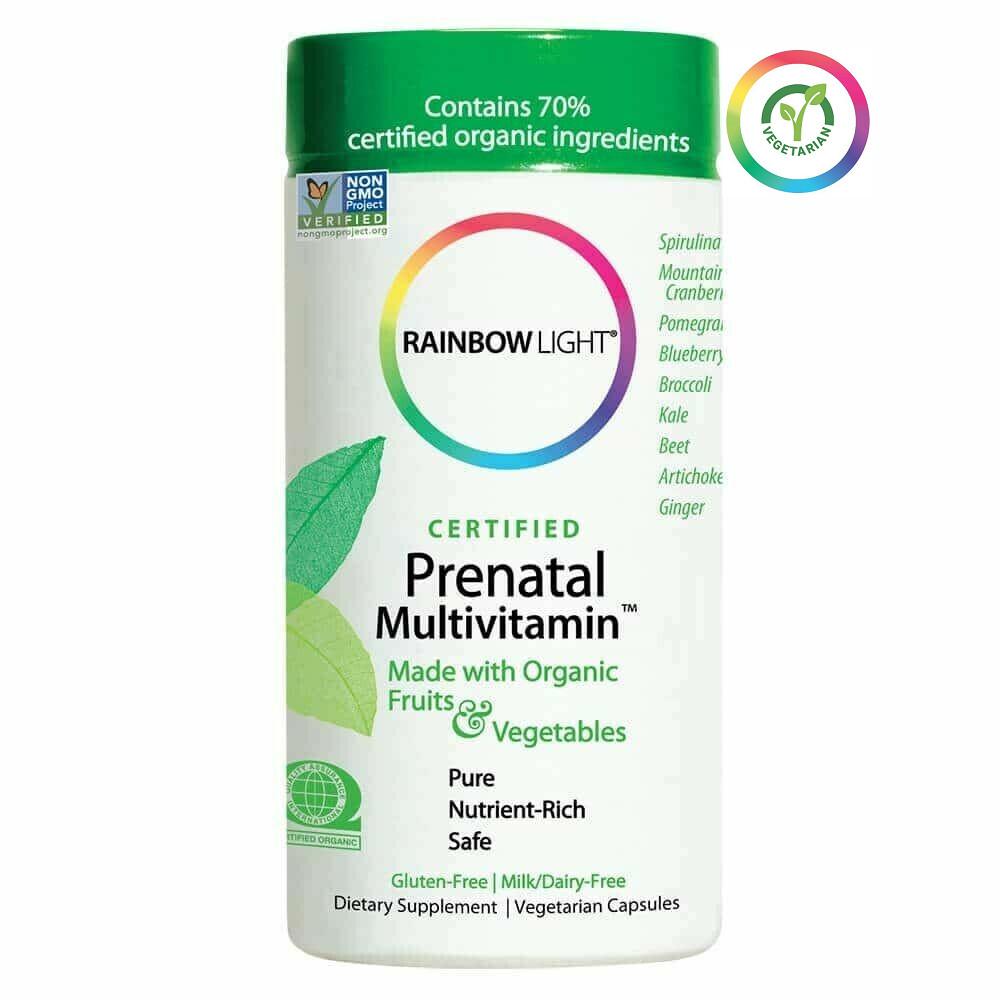 Rainbow Light Certified Organic Prenatal Multivitamin, 120 Capsules
