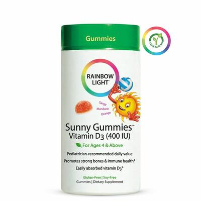Rainbow Light Sunny Gummies™ Vitamin D3 400 IU, 60 Gummies