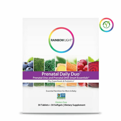 Rainbow Light Prenatal One and Prenatal DHA Smart Essentials, 30 Tablets + 30 Softgels