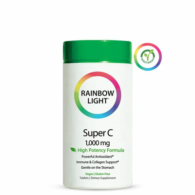Rainbow Light Super C 1000 mg, 60 Tablets