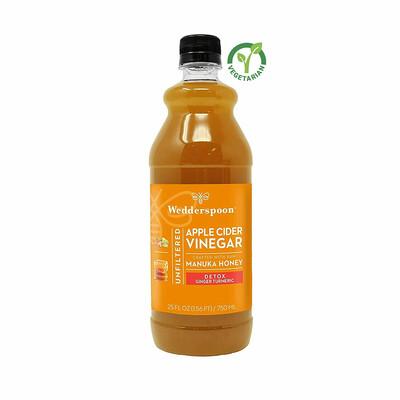 Wedderspoon Apple Cider Vinegar with Manuka Honey, Detox, Ginger Turmeric Lemon, 25 fl Ounce