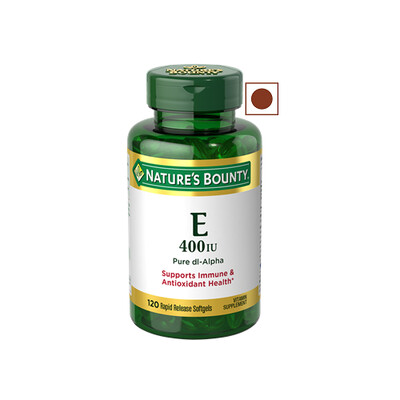 Nature's Bounty Vitamin E 400IU, 120 Softgels