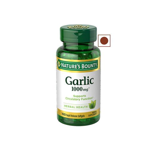 Nature's Bounty Garlic 1000 mg, 100 Softgels