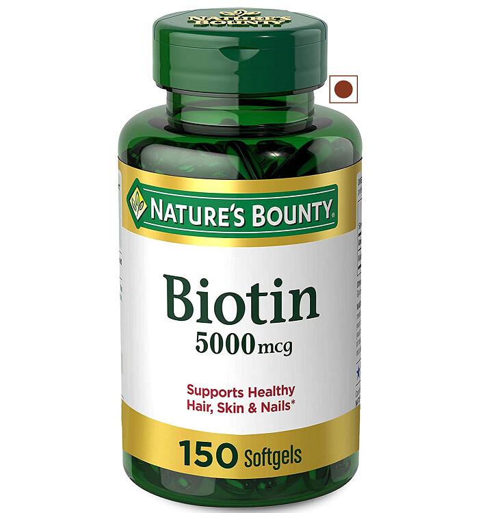 Nature's Bounty Biotin 5000 mcg, 150 Softgels