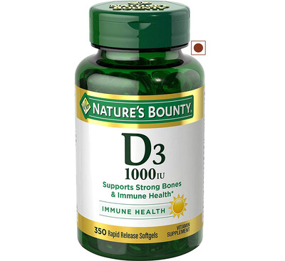 Nature's Bounty Vitamin D3 1000IU, 350 Softgels