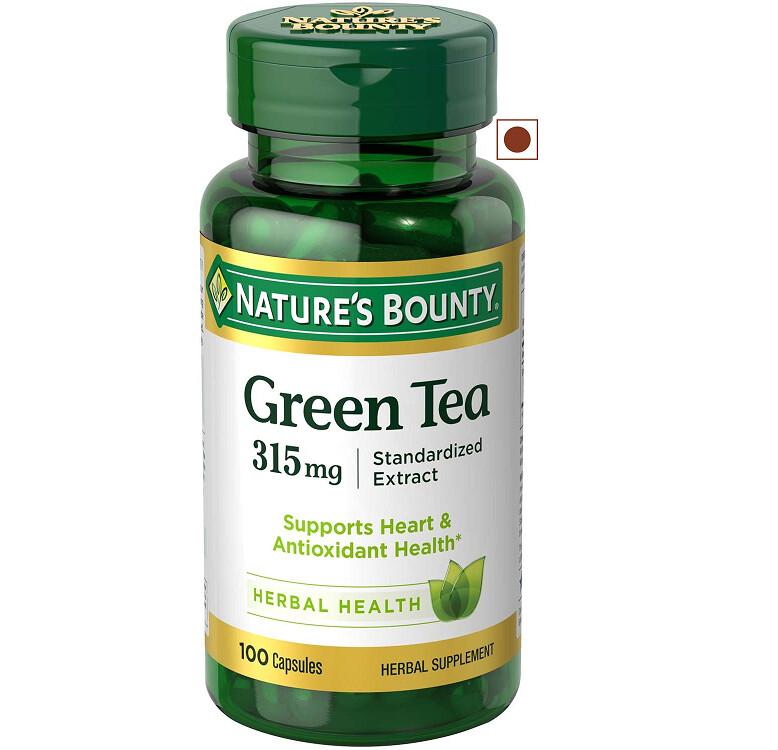Nature's Bounty Green Tea 315 mg, 100 Capsules
