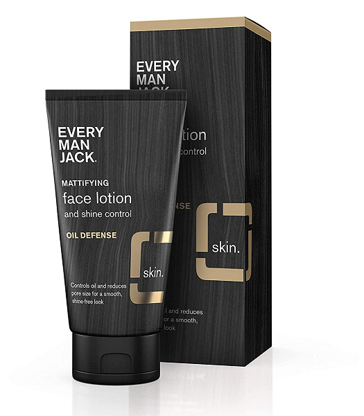 Every Man Jack Mattifying Face Lotion, Oil Defense, Fragrance Free, 2.5 Ounce