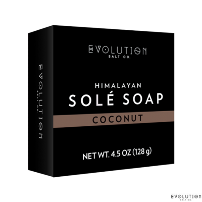 Evolution Salt Coconut Himalayan Sole Bath Soap, 4.5 Ounce