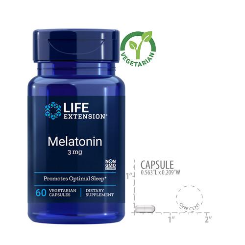 Life Extension Melatonin 3 Mg, 60 Capsules
