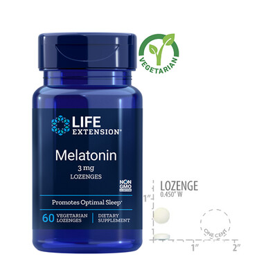 Life Extension Melatonin 3 Mg, 60 Lozenges