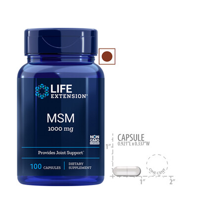 Life Extension MSM 1000 Mg, 100 Capsules