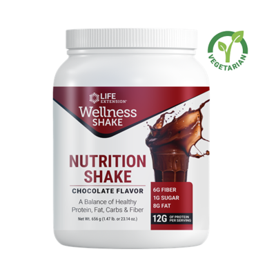 Life Extension Wellness Nutrition Shake, Chocolate, 1.47 lb