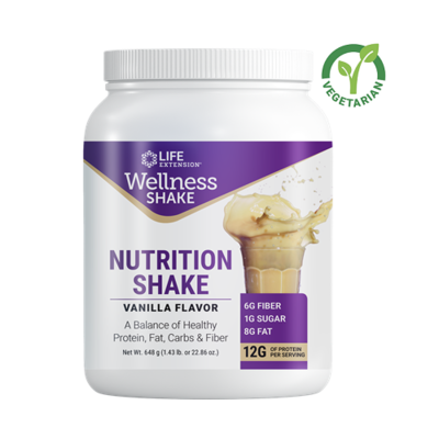 Life Extension Wellness Nutrition Shake, Vanilla, 1.43 lb