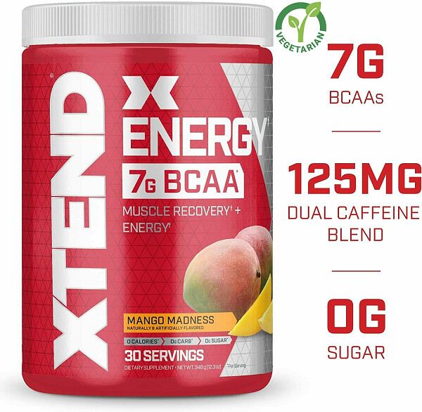 Scivation Xtend Energy Bcaa Powder, Mango Madness, 12.3 Ounce