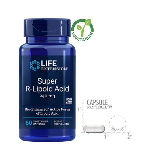 Life Extension Super R-Lipoic Acid, 240mg, 60 Capsules