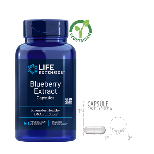 Life Extension Blueberry Extract, 60 Capsules