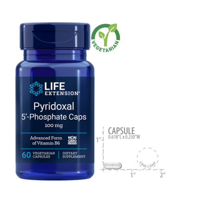 Life Extension Pyridoxal 5-Phosphate 100 Mg, 60 Capsules