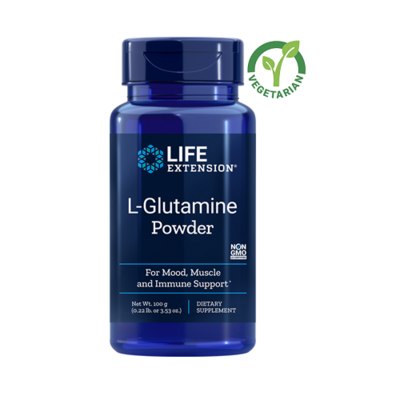 Life Extension L-Glutamine Powder, 3.53 Ounce