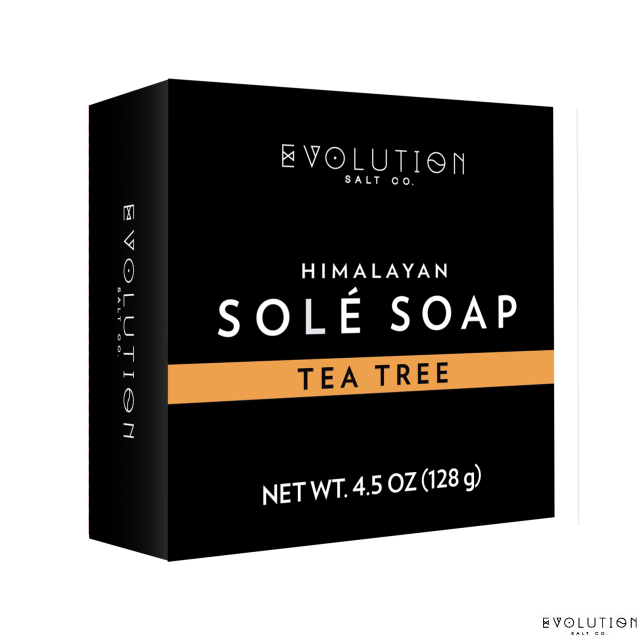 Evolution Salt Tea Tree Himalayan Sole Bath Soap 4.5 Ounce